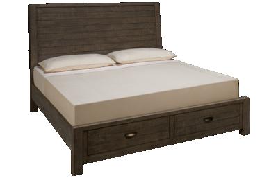 Aspen Radiata King Sleigh Storage Bed