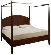 Klaussner Home Furnishings Trisha Yearwood Home King Poster Canopy Bed