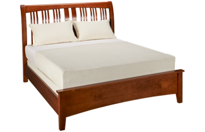 A America Cherry Garden Queen Sleigh Bed