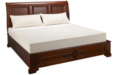 Aspen Richmond King Sleigh Platform Bed with Underbed Storage