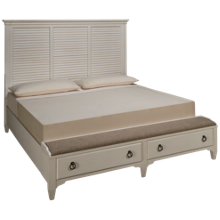 Riverside Myra King Louver Storage Bed
