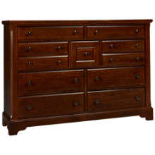 Vaughan-Bassett Artisan Choices 9 Drawer Dresser