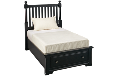 Vaughan-Bassett Cottage Twin Slat Storage Bed