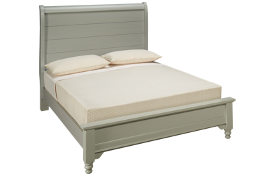 Vaughan-Bassett Cottage Queen Low Profile Sleigh Bed