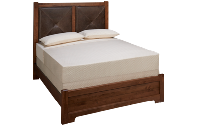 Vaughan-Bassett Cool Rustic Queen Low Profile Leather Bed