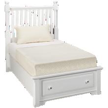 Vaughan-Bassett Cottage Twin Slat Storage Bed