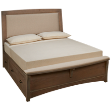 Vaughan-Bassett Transitions Queen Upholstered Panel Bed with Storage Unit