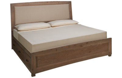 Vaughan-Bassett Transitions King Upholstered Panel Bed with Storage
