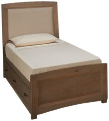 Vaughan-Bassett Transitions Twin Upholstered Panel Bed with Storage Unit