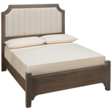 Vaughan-Bassett Bungalow Full Low Profile Upholstered Bed