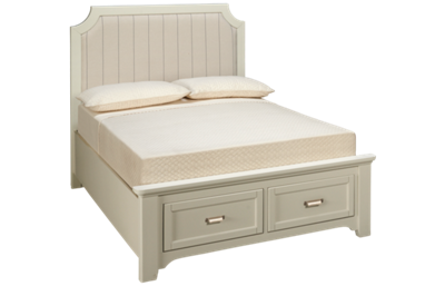 Vaughan-Bassett Bungalow Full Upholstered Storage Bed