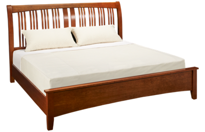 A America Cherry Garden King Sleigh Bed