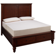 Aspen Cambridge Queen Panel Platform Storage Bed