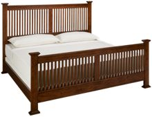Intercon Oak Park King Slat Bed
