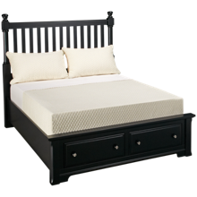 Vaughan-Bassett Cottage Full Slat Storage Bed