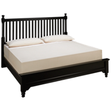 Vaughan-Bassett Cottage King Low Profile Slat Bed