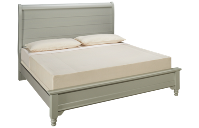 Vaughan-Bassett Cottage King Low Profile Sleigh Bed