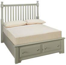 Vaughan-Bassett Cottage Full Slat Storage Bed