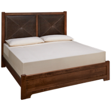 Vaughan-Bassett Cool Rustic King Low Profile Leather Bed