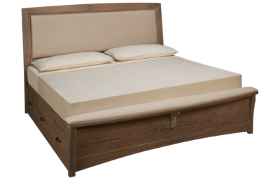 Vaughan-Bassett Transitions King Upholstered Bed with Storage Unit