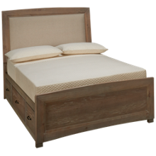 Vaughan-Bassett Transitions Full Upholstered Panel Bed with Storage