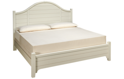 Vaughan-Bassett Bungalow King Low Profile Arched Bed