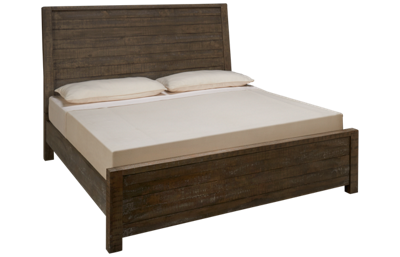 Aspen Radiata King Sleigh Panel Bed