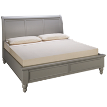 Aspen Cambridge King Sleigh Low Profile Bed