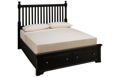 Vaughan-Bassett Queen Slat Storage Bed