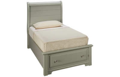 Vaughan-Bassett Cottage Twin Sleigh Storage Bed