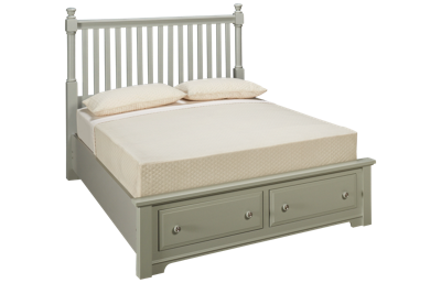 Vaughan-Bassett Cottage Queen Slat Storage Bed
