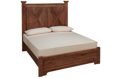 Vaughan-Bassett Cool Rustic Queen X Bed with Low Footboard