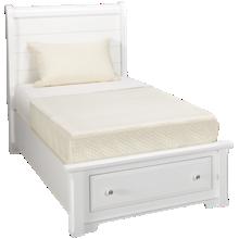 Vaughan-Bassett Cottage Twin Sleigh Storage Bed