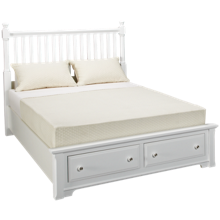 Vaughan-Bassett Cottage Queen Slat Bed with Underbed Storage