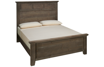 Vaughan-Bassett Sawmill Queen Louvered Bed