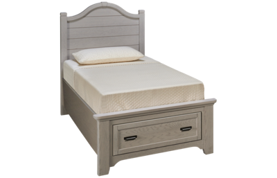 Vaughan-Bassett Bungalow Twin Arched Storage Bed