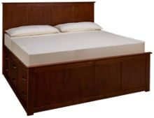 Mastercraft Palisades King Platform Storage Bed