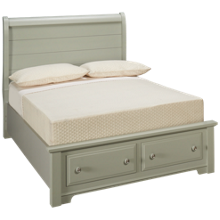 Vaughan-Bassett Cottage Full Sleigh Storage Bed