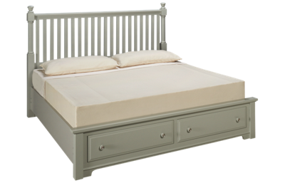 Vaughan-Bassett  Cottage King Slat Storage Bed