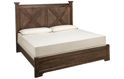 Vaughan-Bassett Cool Rustic King X Low Profile Bed