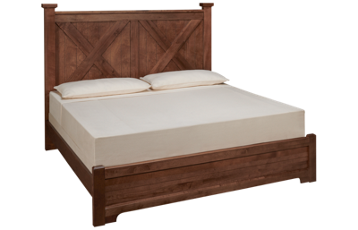 Vaughan-Bassett Cool Rustic King X Bed with Low Footboard