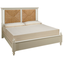 Vaughan-Bassett Scotsman King Seagrass Panel Bed