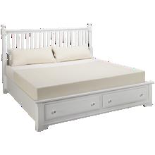 Vaughan-Bassett Cottage King Slat Storage Bed