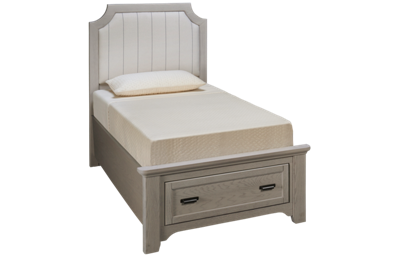 Vaughan-Bassett Bungalow Twin Upholstered Storage Bed