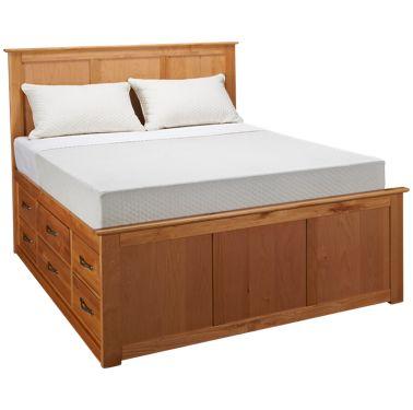 Queen Pedestal Bed