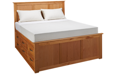 Mastercraft Urban Home Queen Pedestal Bed with Underbed Storage Drawers