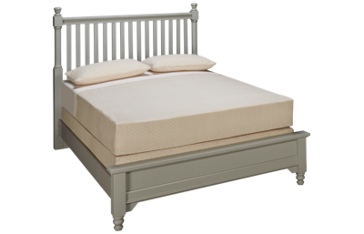 Vaughan-Bassett Cottage Queen Low Profile Slat Bed