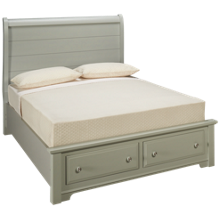 Vaughan-Bassett Cottage Queen Sleigh Storage Bed