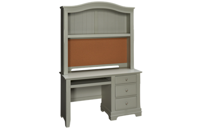 Vaughan-Bassett Cottage 3 Drawer Desk with Hutch