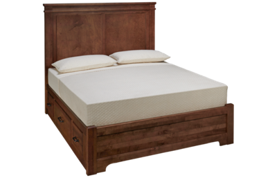 Vaughan-Bassett Cool Rustic Queen Mansion Low Profile Bed